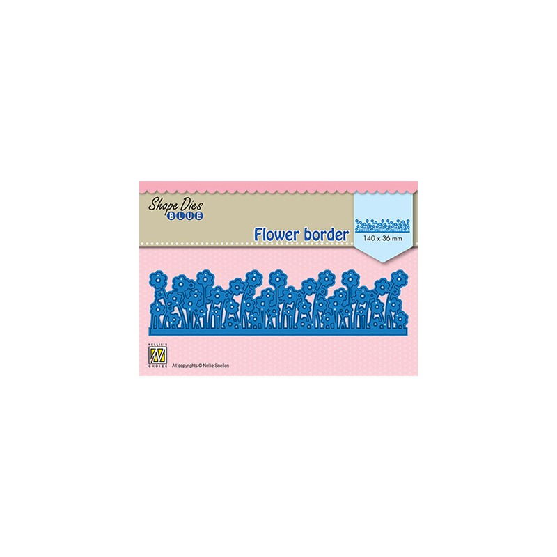 (SDB082)Nellie's Shape Dies Blue Flower border