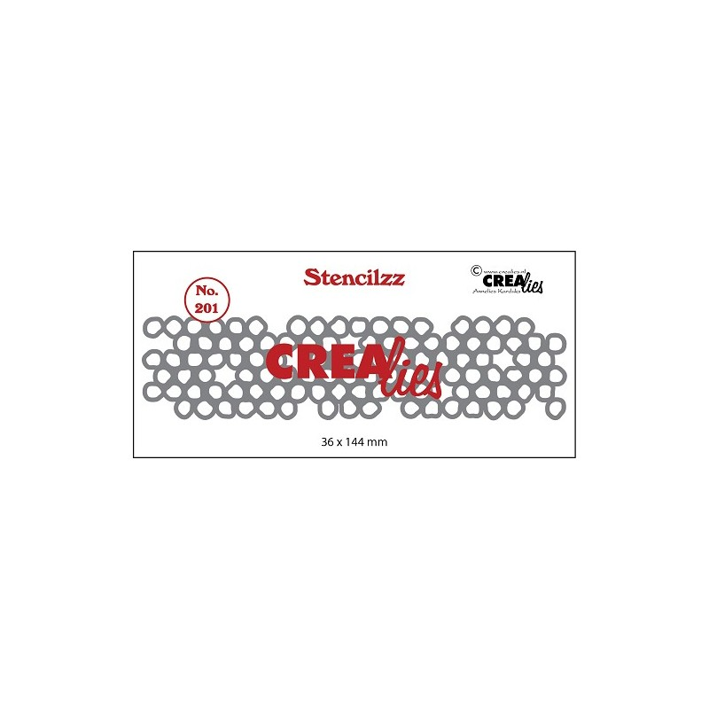 (CLST201)Crealies Stencilzz no. 201 wonky circles
