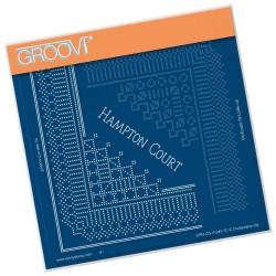 (GRO-GG-41245-12)Groovi Grid Piercing Plate HAMPTON COURT LACE CORNER DUET