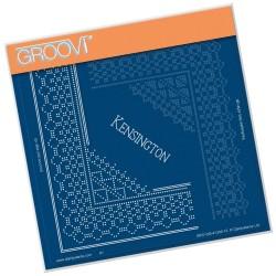 (GRO-GG-41246-12)Groovi Grid Piercing Plate KENSINGTON LACE CORNER DUET
