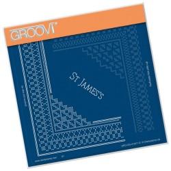 (GRO-GG-41247-12)Groovi Grid Piercing Plate ST JAMES LACE CORNER DUET