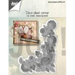 (6002/1288)Cutting, embossing & debossing dies deco plant corner