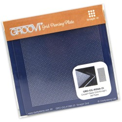 (GRO-GG-41066-23)Groovi Plate A6 PIERCING GRID MINI STRAIGHT BASIC