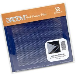 (GRO-GG-41065-23)Groovi Plate A6 PIERCING GRID MINI DIAGONAL BASIC
