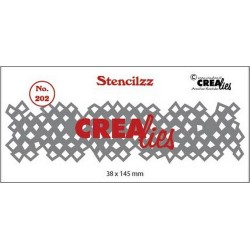 (CLST202)Crealies Stencilzz no. 202 wonky squares