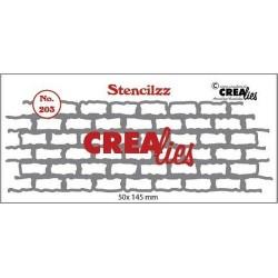 (CLST203)Crealies Stencilzz no. 203 stones