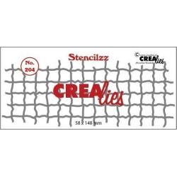 (CLST204)Crealies Stencilzz no. 204 mesh