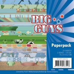 (YCPP10024)Paperpack - Yvonne Creations- Big Guys