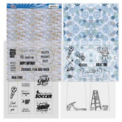 (YCMC1001)YC BIG GUYS PRINTED SHEETS 2 MICA 2 ACHTERGROND