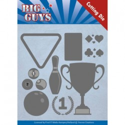 (YCD10170)Dies - Yvonne Creations - Big Guys - Play to Win