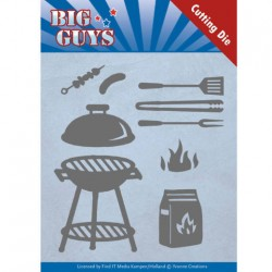 (YCD10171)Dies - Yvonne Creations - Big Guys - BBQ time