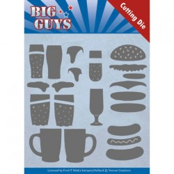 (YCD10172)Dies - Yvonne Creations - Big Guys - Fast food
