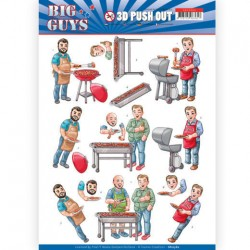 (SB10360)3D pushout - Yvonne Creations- Big Guys - Backyard BBQ