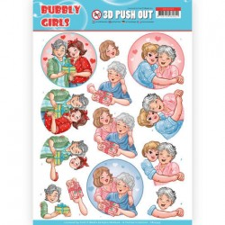 (SB10345)3D Pushout - Yvonne Creations- Bubbly Girls - Mothersday