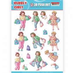 (SB10347)3D Pushout - Yvonne Creations- Bubbly Girls - Shopping
