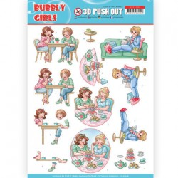 (SB10348)3D Pushout - Yvonne Creations- Bubbly Girls - Me Time