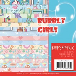 (YCPP10023)Paperpack - Yvonne Creations - Bubbly Girls