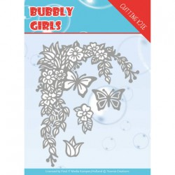 (YCD10167)Dies - Yvonne Creations - Bubbly girls- Flower Corner