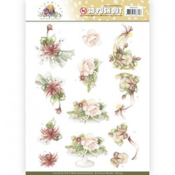 (SB10353)3D Pushout - Precious Marieke - Blooming Summer - Sweet Summer Flowers