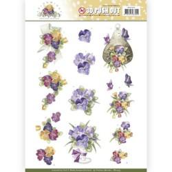 (SB10355)3D Pushout - Precious Marieke - Blooming Summer - Summer Pansies