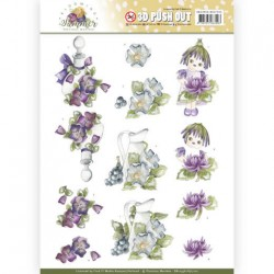 (SB10356)3D Pushout - Precious Marieke - Blooming Summer - Summer Scenes