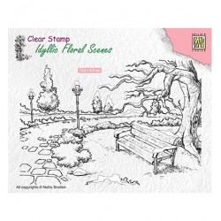 (IFS016)Nellie`s Choice Clearstamp - Wintery park with bench