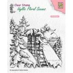 (IFS018)Nellie`s Choice Clearstamp - Santa Claus at work
