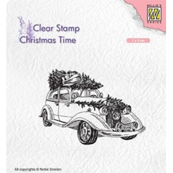 (CT031)Nellie's Choice Clear Stamp Christmas time Christmas tree Transport