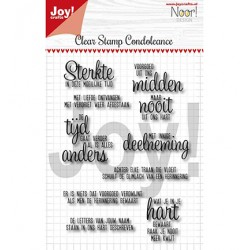 (6410/0498)Clear stamp Condoleance