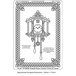 (TP3563E)PCA® - EasyEmboss Cuckoo Clock & Frame