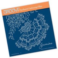 (GRO-FL-41227-03)Groovi Plate A5 Linda Williams JASMINE
