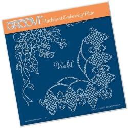 (GRO-FL-41230-03)Groovi Plate A5 Linda Williams VIOLET