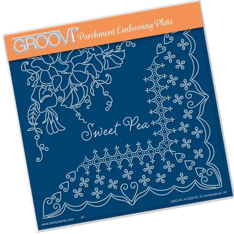 (GRO-FL-41229-03)Groovi Plate A5 Linda Williams SWEET PEA