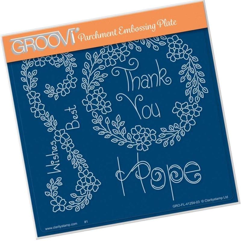 (GRO-FL-41254-03)Groovi Plate A5 TINA'S HOPE FLOWERS