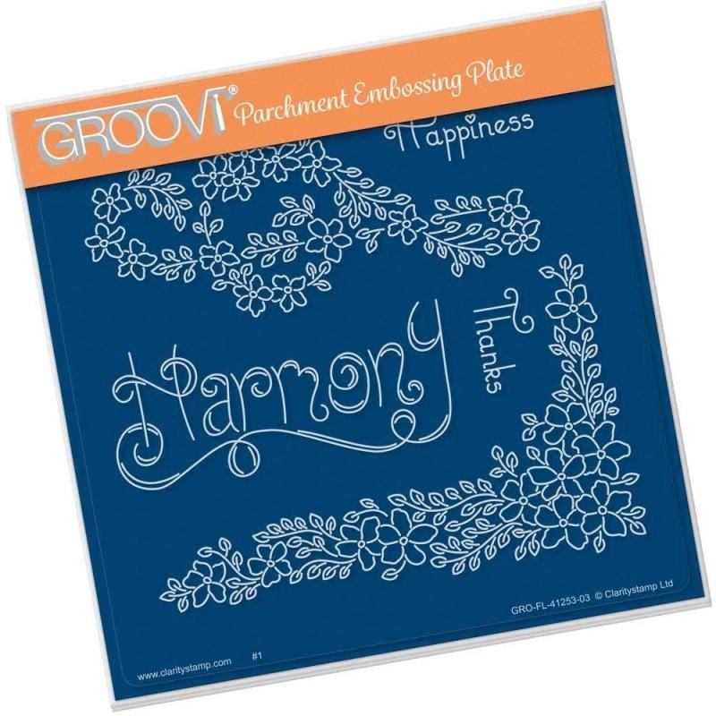 (GRO-FL-41253-03)Groovi Plate A5 TINA'S HARMONY FLOWERS