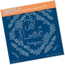 (GRO-FL-41255-03)Groovi Plate A5 TINA'S LOVE FLOWERS