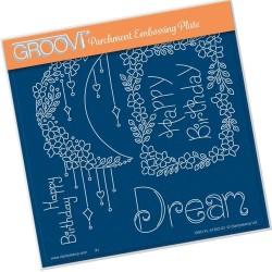 (GRO-FL-41252-03)Groovi Plate A5 TINA'S DREAM FLOWERS