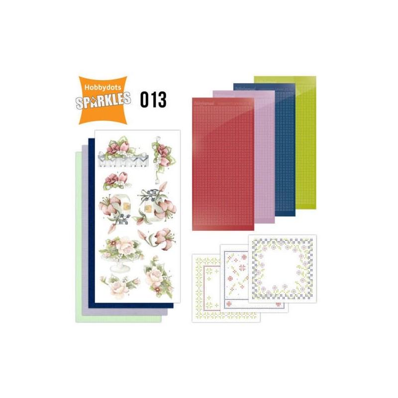 (SPDO013)Sparkles Set 13 - Red Summer Flowers