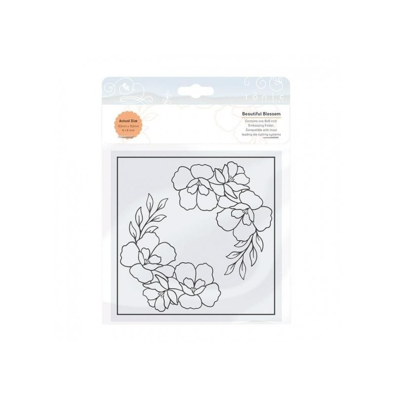 (2457E)Tonic Studios • Embossing folder beautiful blossom