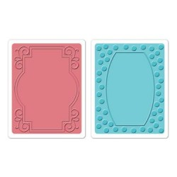(658215)Textured Impressions Embossing Folders 2PK-Ornate Frame