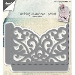 (6002/1270)Cutting dies wedding invitations -pocket