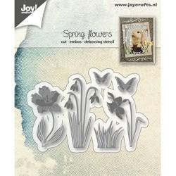 (6002/1280)Cutting, embossing & debossing dies spring flowers