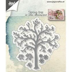 (6002/1281)Cutting, embossing & debossing dies spring tree