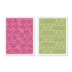 (658076)Textured Impressions Embossing Folders 2PK-Garden Set