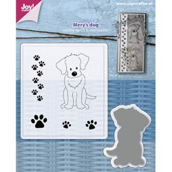 (6004/0034)Clear stamp / Stencil set Mery's Dog