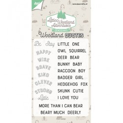 (6410/0513)Clear stamp Dendennis - LWA - Woodland quotes