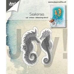 (6002/1296)Cutting, embossing & debossing dies seahorses