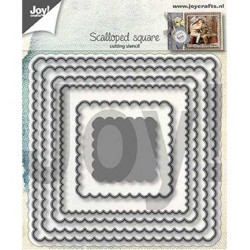 (6002/1301)Cutting dies scalloped square