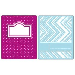 (658299)Text. Impr. Embo. Fold. - Notebook Covers