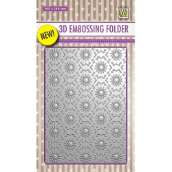 (EF3D001)Nellie's Choice Embossing folder Backgrounds Flowers-1